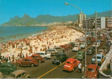 La spiaggia di Ipanema negli anni '60 (Rio de Janeiro)