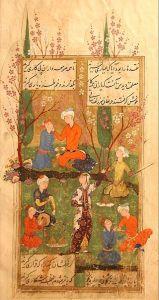 Divan of Hafez, Persian miniature, 1585