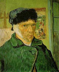 Autoritratto con l'orecchio bendato - Vincent Van Gogh - 1889 - Courtauld Gallery, Londra