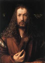 Autoritratto con pelliccia - Albrecht Dürer - 1500 - Alte Pinakothek, Monaco di Baviera