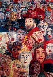 Autoritratto circondato da maschere - James Ensor - 1989 - Menard Art Museum, Komaki City, Japan - Fonte: lagiostra.biz