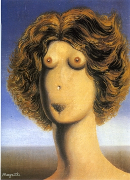 Lo stupro - René Magritte - 1934 - The Menil Collection, Houston - Fonte: tuttomagritte.altervista.org