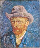 Autoritratto con cappello di feltro - Vincent Van Gogh - 1887-88 - Rijksmuseum Vincent Van Gogh, Amsterdam - Fonte: voxnova.altervista.org