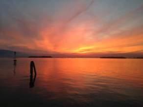 Laguna al tramonto, San Servolo