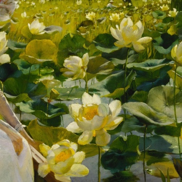 "Charles Courtney Curran (1861-1942) ""Lotus Lilies"" (particolare), 1888"