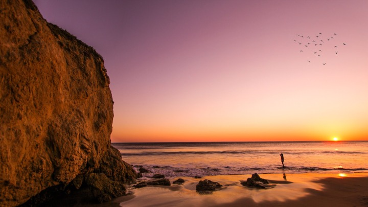 Sunset in Malibu, CA. (ph Riccardo Bertolo)
