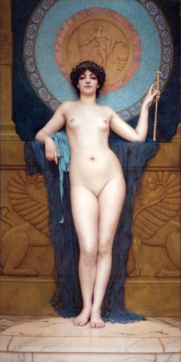"""John William Godward, """"Campaspe"""" (1896), Collezione privata"""