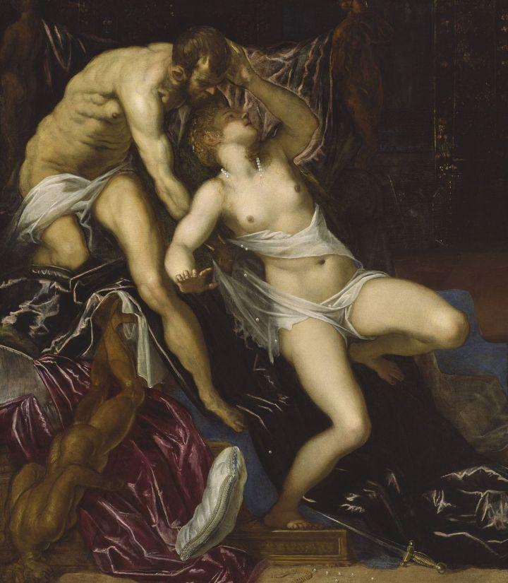 """Jacopo Robusti, detto Tintoretto (1518-1594), """"Tarquinio e Lucrezia"""" (ca.1578-1580), The Art Institute of Chicago"""