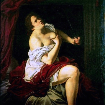 "Artemisia Gentileschi (1593-1654), ""Lucrezia"" (1623-5), Neues Palais, Potsdam"
