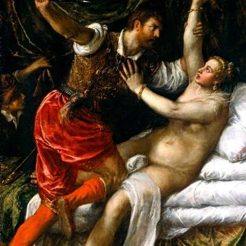 """Tiziano Vecellio (1488/90-1576), """"Tarquinio e Lucrezia"""" (ca. 1515), Kunsthistorisches Museum, Vienna"""